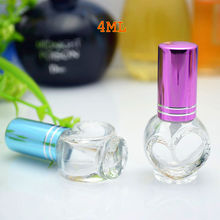 100pcs/lot 4ml Empty Glass Perfume Bottle Vials Refillable Glass Spray Bottle Fragrance Cosmetic Packaging Wholesale