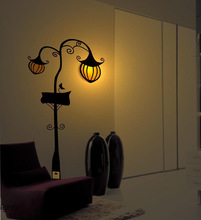 Halloween Pumpkin Lamp Wall Stickers Wall Lamp Bedroom Bedside Lamp Decoration Lamp