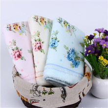 2017 fashion 32*72cm Printed Flower Cotton Terry Hand Towels,Pattern Floral Face Bathroom Hand Towels for Adults,Toallas Algodon
