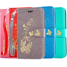 Gilding Butterfly Wallet Flip Phone Case sFor HTC Desire 626 816 820 826 Cover Phone Coque PU Leather Saddle Stand Cases