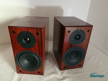 IWISTAO Bookshelf HIFI speakers Home 1 pair high sensitivity super Bass speaker high density board Wooden raw wood veneer Auido(China)