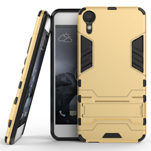 For HTC Desire 10 Lifestyle Phone Case 5.5 inch Shockproof Robot Armor Rugged Rubber Silicone Hard Back Cover For Desire 10 (<(China)