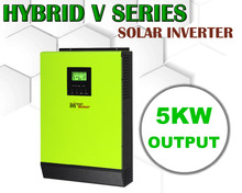 5000w Hybrid Solar power inverter Grid tied solar inverter + off grid solar inverter 48vdc 230vac  120A MPPT SOLAR CHARGER