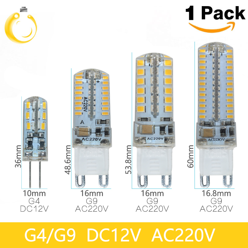 Lowest price 1pcs/lot G9 LED Bulb Lamp SMD2835 3014 220V 7W 9W 10W 12W Dimmable G4 G9 LED lamp LED Bulb 360 Degree Crystal bulb(China (Mainland))