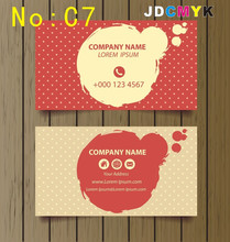 cusotm print BUSINESS CARDS 2SIDED PRINT 500pcs only need 25.5 usd C7
