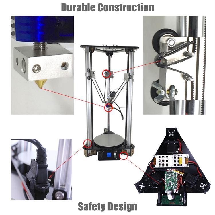 Smart Leveling Metal Kossel DIY Delta 3D Printer Kit with 1kg filament