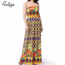 Milk Silk Floor Length Strapless Dress Off Shoulder Casual Plus Size Sexy Sundress  Evening Party Beach Bohemian Maxi Dress 2017