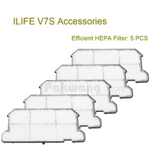 Buy Original ILIFE V7S Efficient HEPA Filter 5 pcs Robot Vacuum Cleaner accessories for $34.11 in AliExpress store