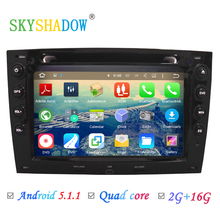 HD 1024X600 Quad Core 2GB ROM 16GB Flash Android 5.1.1 Car DVD Player for Renault Megane 2 ii 2003-2010 GPS Radio Stereo System