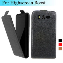 Factory price , Top quality new style flip PU leather case for INNOS D9 open up and down for Highscreen Boost, gift