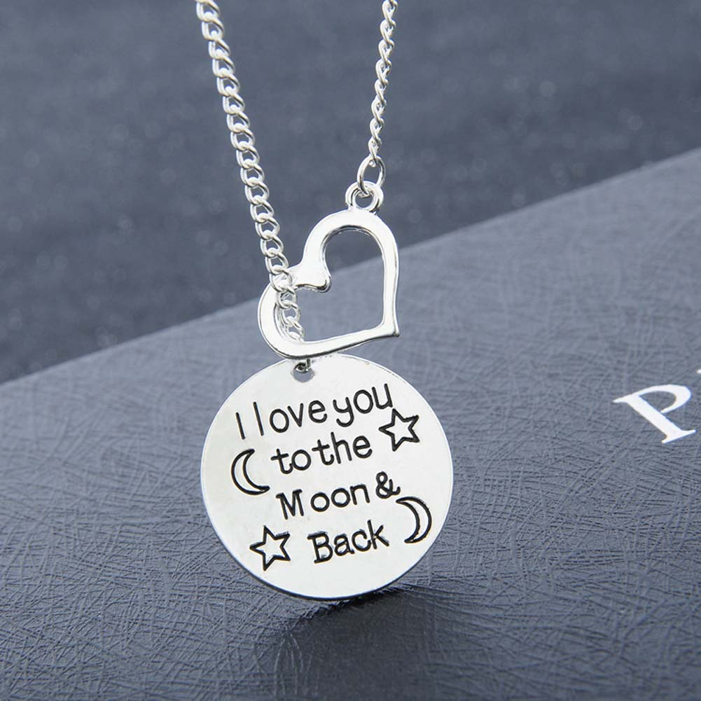 I love You To Moon&Back Love Moon Star Necklace Romantic imaginative Jewelry Charm Lover Family Party Gifts