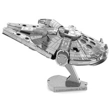 Star Wars Millennium Falcon Ship 3D DIY Metal Model Puzzle Miniature Scale Building Kits Toy Adult Hobby Science Academia