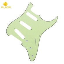 FLEOR US Vintage 8 Holes SSS Guitar Pickguard Anti-scratch Pick Guard Plate Mint Green w/ Screws(China)