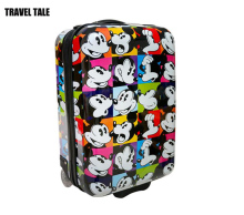 20 Inches children travel suitcase abs/pc Mickey rolling luggage bag for kids