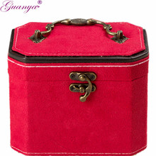 4 colors octagona jewelry display classical pattern casket/Senior jewelry box organizer/case for jewelry storage / gift box 654(China)