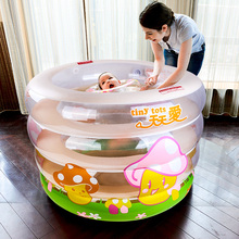 Thicken Children Baby Inflatable Swimming Pool Inflatable Infant Neck Float Large Swimming Pool Keep Warm Baby Pool 105*75CM C01(China)