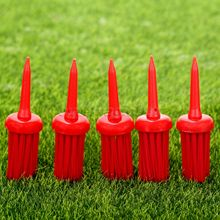50Ps/Pack Plastic Bristles Golf Brush Tees Driver Training Bristle Tee 62mm Golf Brushes Tee Tool Accessories Golf Training Aids
