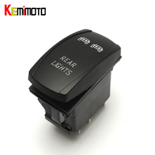 KEMiMOTO Rocker Rear LED Light UTV OFF ROAD Switch for JEEP SUV BOAT RV for John Deere Gator XUV for Polaris RZR 800 1000 900(China)