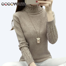 Buy Gogoyouth Winter Sweater Women Turtleneck 2017 Long Sleeve Knitted Jersey Jumper Tops Tricot Women Sweater Pullover Female for $12.87 in AliExpress store
