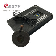 EBUTY Quantum Energy Pendant 3000CC Negative Ions Charms Jewelry Japanese Science Necklace Lava Stone with Gift Box 2pcs/lot