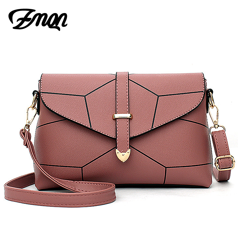 ZMQN women messenger bags small pu leather oblique cross body bag female stone texture shoulder bag 2017 fashion crossbody Cheap(China)