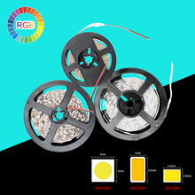 IP20 NO Waterproof RGB LED Strip Flexible Lights DC12V SMD 5050 5630 3528 300LED 5M Lampada LED Tape Light Colorful Ribbon Lamp