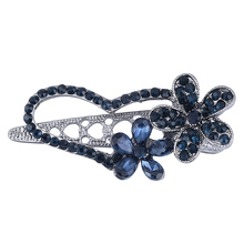EASYA Hot New Crystal Heart Hair Pins Hair Accessories Jewelry Blue Rhinestone Crystal Flower Hair Clips Hairwear(China)