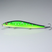 1PCS 14cm 23g Fishing Lure Minnow Hard Bait With 2# Treble Hooks Pesca 3D Eyes Laser Lifelike Wobble Carp Crankbait