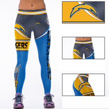 Woman Yoga Pants Fitness Fiber Sports Chargers Leggings Tights American football Trousers Exercise Training Clothing Sportswear(China)