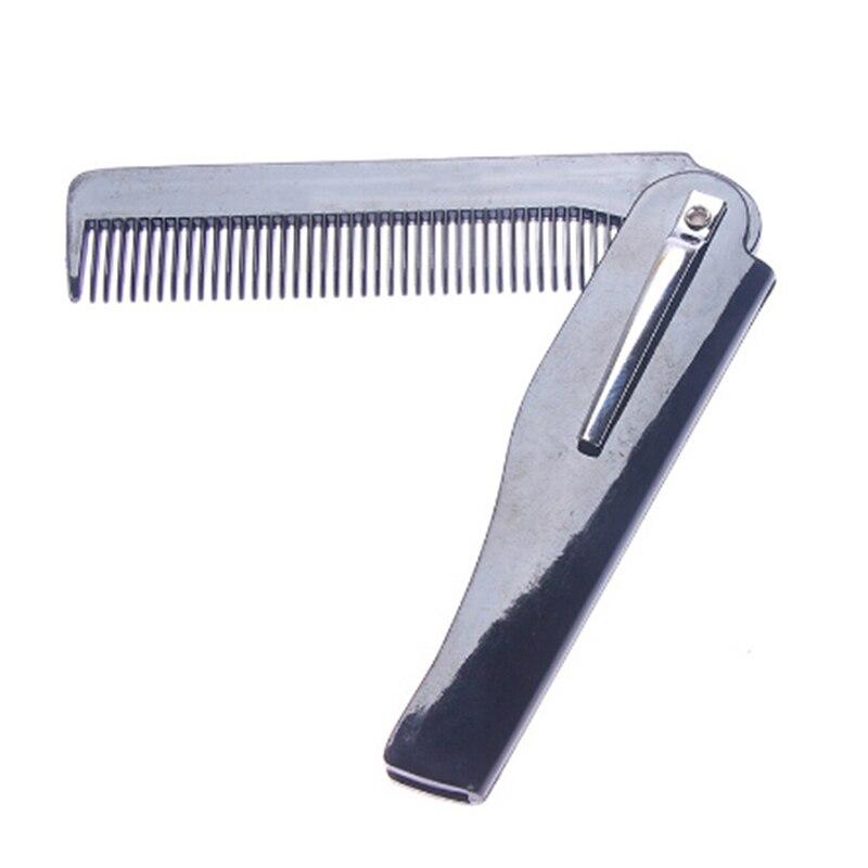 1pc Folding Beard Comb Hairdressing Beauty Tools For Men Women Beard Styling Comb Black