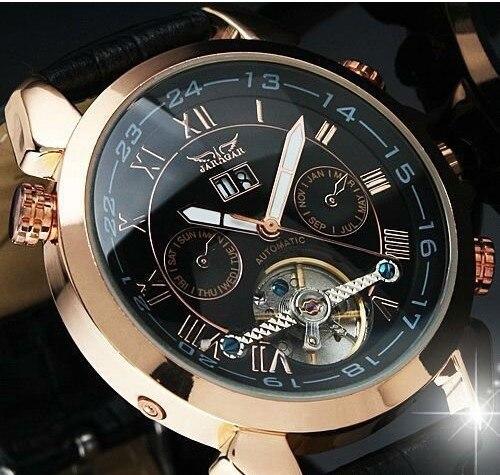 Luxury Original Brand Men Business Statement Wrist watches Tourbillon Automatic Mechanical Watches Self Winding Dress Relojes<br>
