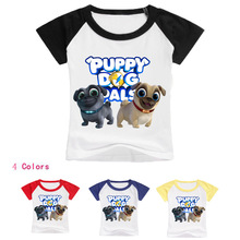 Z&Y 2-16Years Bobo Choses 2018 Pet Puppy Dog Pals Costume Fnaf Summer Short T Shirt Boy Tops Kids T-shirtschild Model Top 100(China)