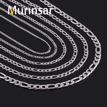 Width 3/4/5/6/7/9/11mm Stainless Steel Figaro Chain High Quality Link Necklace Chain Stainless Steel Men Jewelry Wholesale(China)