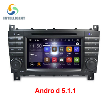 Android 5.1 Quad core 1024*600 2 DIN Car DVD GPS STEREO For Mercedes/Benz W203 W209 W219 A-Class A160 C-Class C180 C200 CLK200