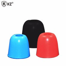 6pcs/3 Pairs soft Silicone Earphone covers Earbud Tips KZ Original Black,Red,Blue Noise Isolating Comfortable Case For Headphone
