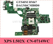 CN-0714WC For DELL XPS L502X Laptop Motherboard Mainboard GT540M 2GB HM67 714WC DAGM6CMB8D0 100% tested