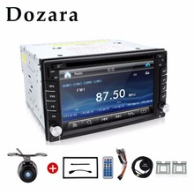 "2 din radio car Touch Screen car dvd player gps Navi Bluetooth FM 6.2"" 2din in dash TFT support rear view camera input(China)"