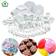 33Pcs/Set Fondant Cookie Cake Cutter Ejector Stamp Plunger Cutters Embossed Mold Moulds DIY Kitchen Baking Cake Decorating Tools