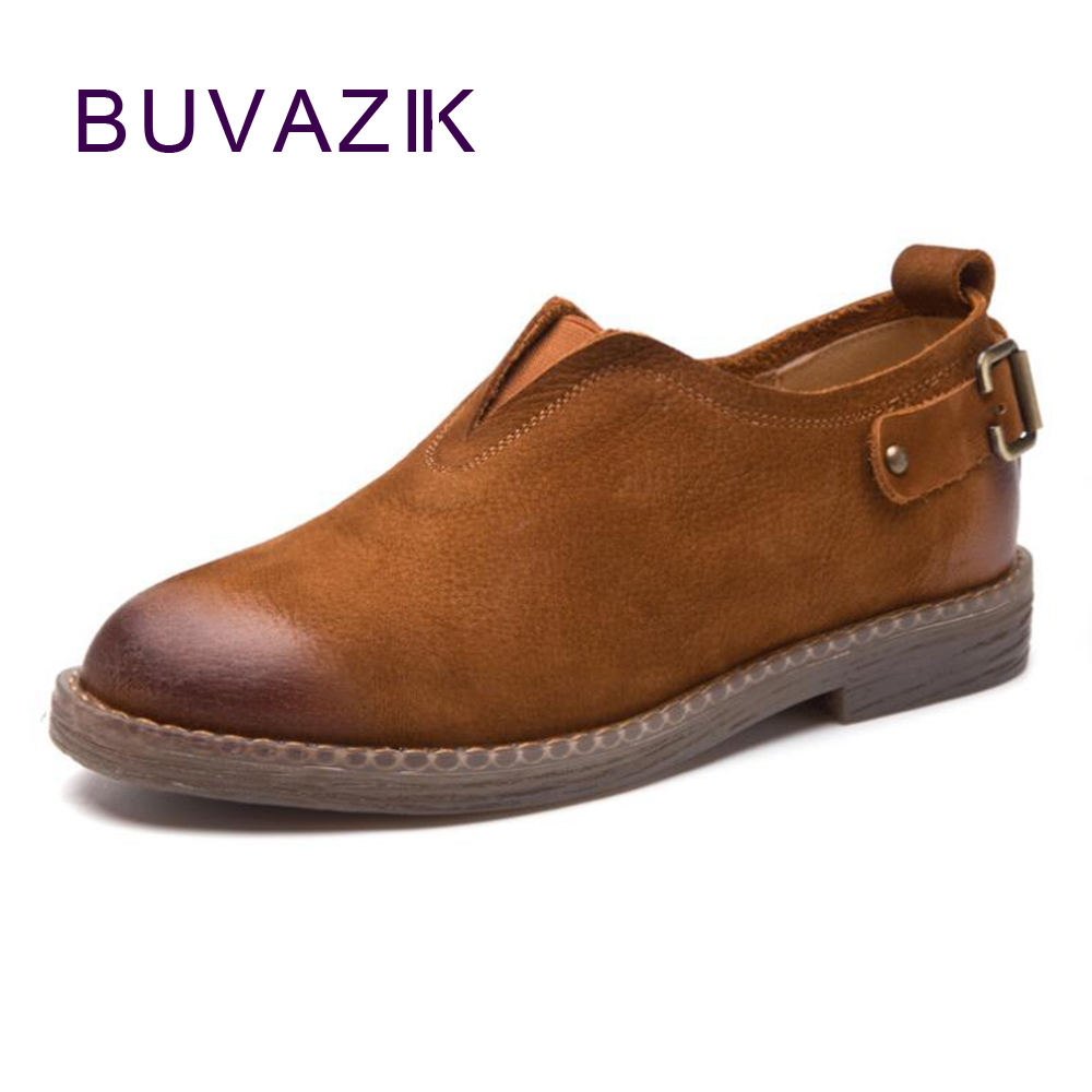 2017 autumn new belt buckle leather women shoes fashion casual lazy flat for female 2017 laydies  slip-on Soft Bottom<br>