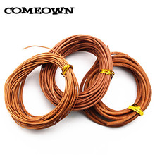 COMEOWN Hot 10meters 1mm 1.5mm 2mm 3mm Round Genuine Real Leather Cord Natural Color for Bracelet Necklace DIY Jewelry Making(China)