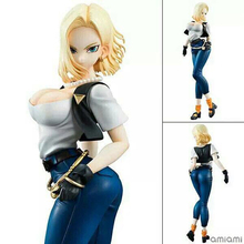 20cm Dragon Ball Z 2nd Android  Figure Lazuli Standing Version Android 18 PVC Action Figure Toy Brinquedos