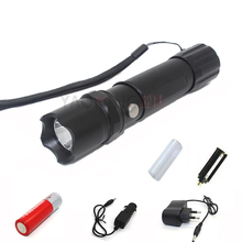 Set flashlight CREE Q5 1000LM rechargeable 3 modes led lamp torch waterproof lantern tactical police flashlight 18650 + charger