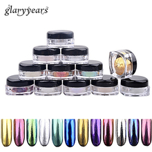 12 Color 1 Piece Nail Magic Mirror Powder Shiny Dust Pigment Ultrafine Mirror Powder Nail Art Tip DIY Makeup Manicure Decoration(China)