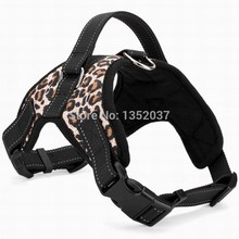 Free shipping Service dog Vest for walking harness dog collar leash padded pet harness Vest dog clothes for Winter Leopard(China)