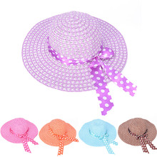 Lady Beach Straw Hat Fashion Summer Wide Along Bow Visor Sun Mujer Cap Candy Colored Sun Hats for Women(China)