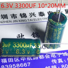Pengiriman gratis 25 PCS/lot 6.3V 3300uF 10 * 20 aluminium Electrolytic kapasitor,3300uF 6.3V 10 * 20 mm ic...