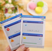 Novelty Windows System Notice Mini Memo Pad Sticky Notes Escolar Papelaria School Supply Bookmark Post it Label