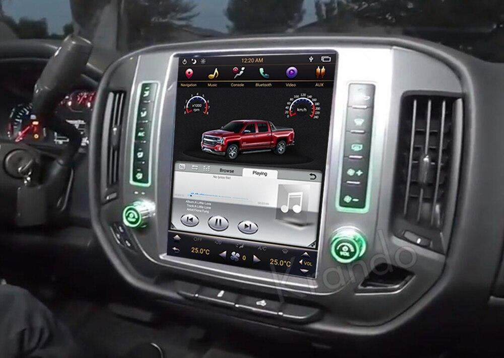 Krando GMC Chevrolet Silverado tesla screen android car radio gps navigation multimedia system (3)