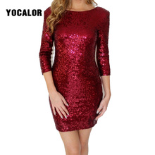 Sexy Sequin Dress Paillette Backless Pencil Sheath Dress Party Short Women Summer Sundress Vintage Vestidos Vintag Tank Bodycon(China)