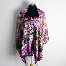 100% Silk Satin Velvet Long Scarf Pure Natural Printed Pattern Silk Winter Warm Scarf Women Silk Wrap China Silk Factory Direct